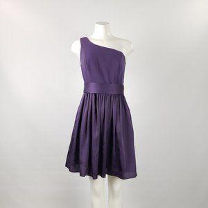 Short One Shoulder Dress with Satin Sash Size 8